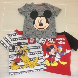 Set of 3 Mickey tees